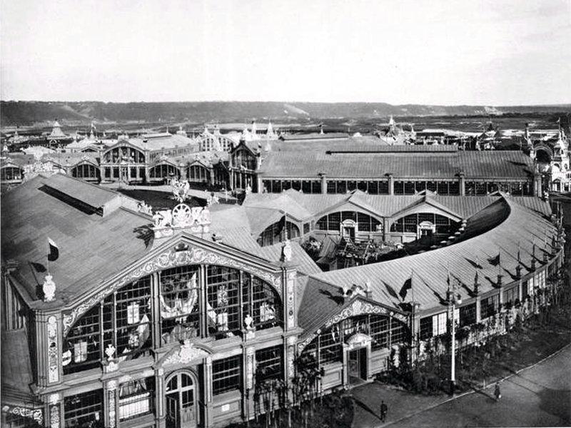 Всероссийская промышленная и художественная выставка в Нижнем Новгороде 1896 года. Общий вид центрального здания